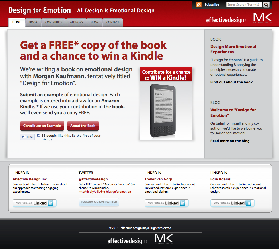 Design For Emotion book site launches