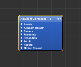 AirBeam Controller for Isadora Core & Quartz Composer